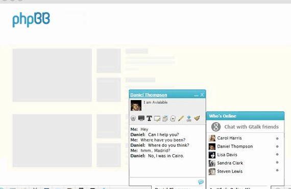 Como adicionar um phpbb chatbox hospedagem