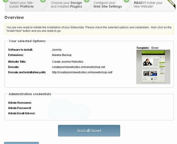Làm thế nào để tạo trang web mới trong joomla lưu trữ