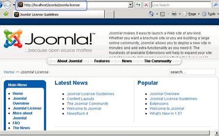 IIRF ini Hosting Joomla