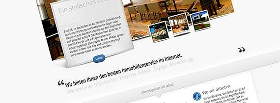 strona Immobilien mit hosting wordpress