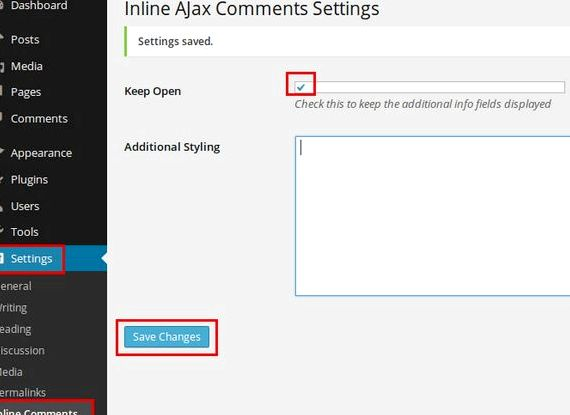 Inline Ajax-Seite Wordpress Hosting