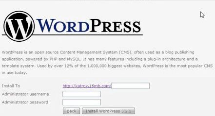Instalando wordpress hostinger Indonezja