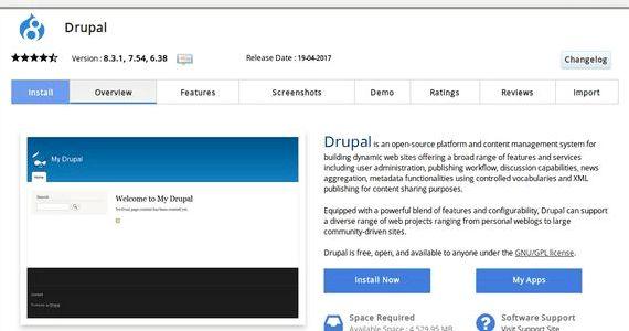 खुला Drupal होस्टिंग पर प्रकाशित स्थापित करें