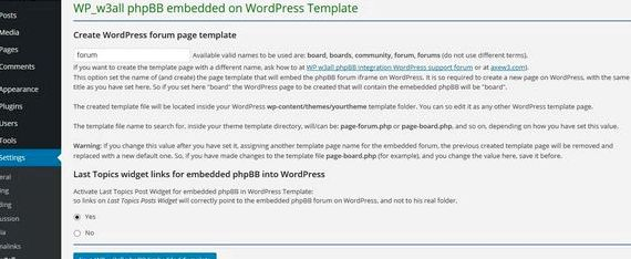 Integrate phpbb forum into wordpress hosting