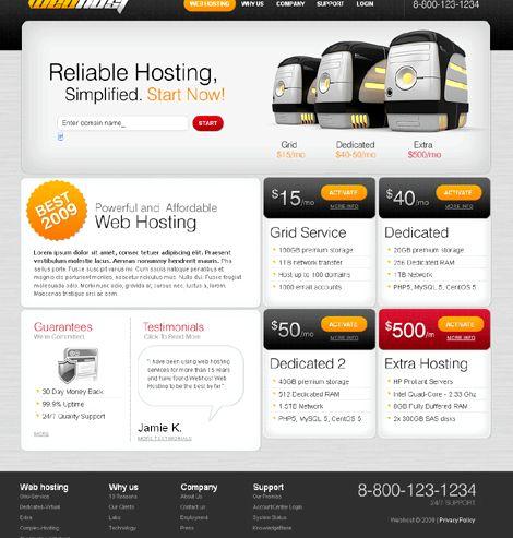 Joomla gra hosting Joomla szablon