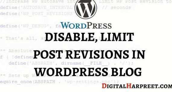 revisioni limite wordpress di hosting