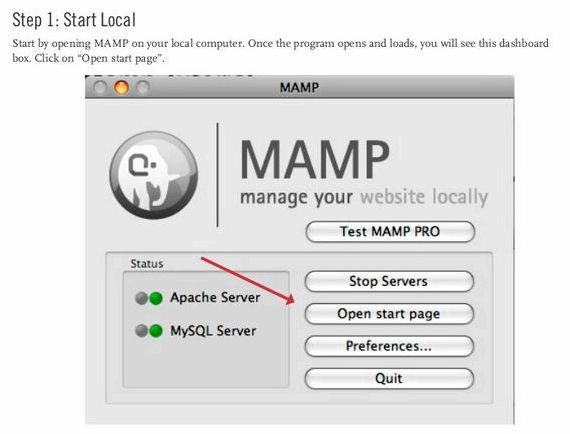 MAMP住的服务器WordPress的主机的