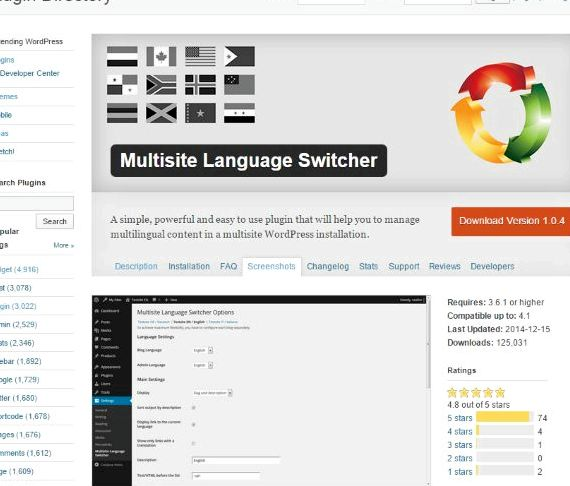 Multi multi lingua del dominio wordpress gruppo di hosting questi in tre diversi