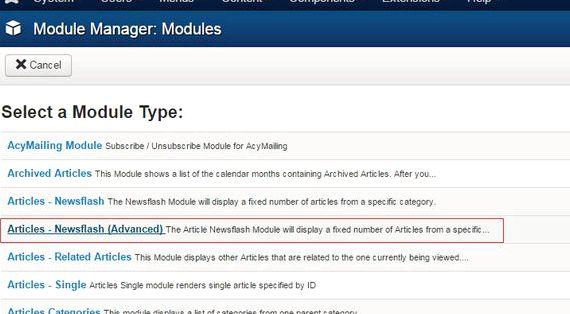 Newsflash modul drupal hosting