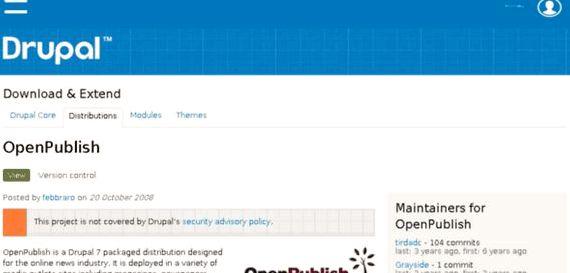 Drupal होस्टिंग प्रकाशित खोलें