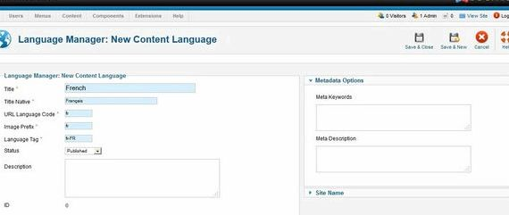 Pack langue fr joomla hosting