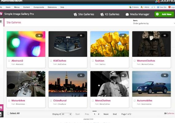 Photo gallery with joomla hosting