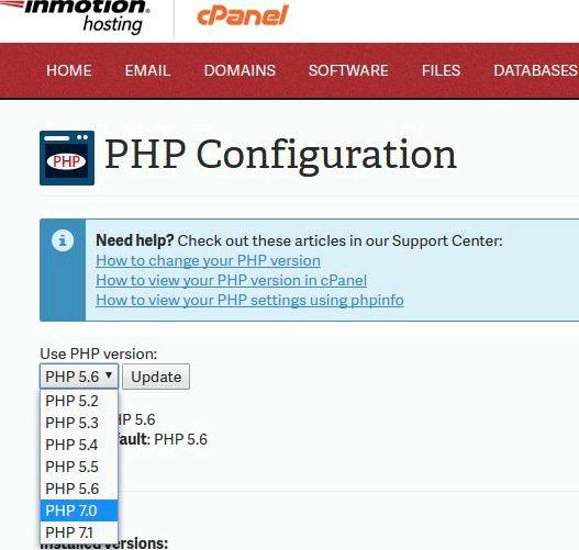 Php 5 işleyicisi barındırma wordpress