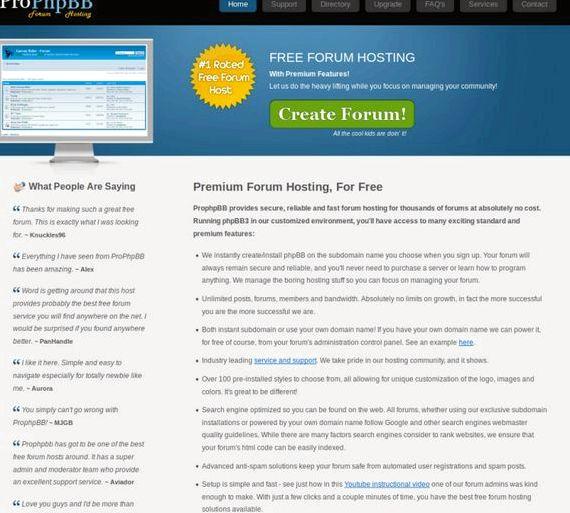 PHPBB انجمن رایگان میزبانی وب سفارشی
