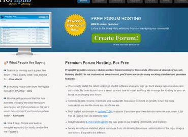 Darmowe forum phpbb hosting witryn produkt, usługa lub specjalnego