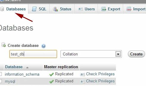 phpMyAdminのワードプレスのドメインホスティング