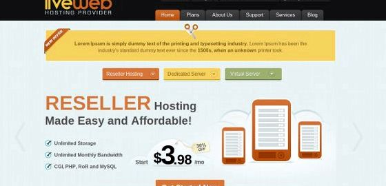 Premium wordpress hosting templates