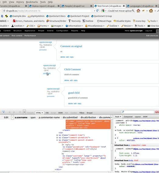 Proste html dom drupal hosting tylko linki