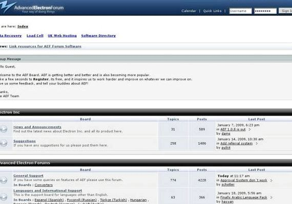 Mudah forum Mesin vs Phpbb hosting