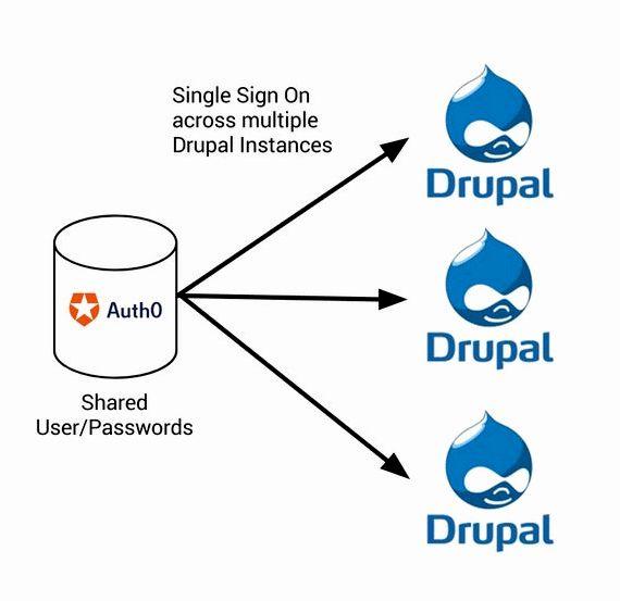 tanda tunggal pada moodle drupal hosting