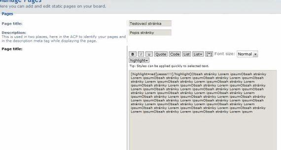 صفحات استاتیک میزبانی phpBB و