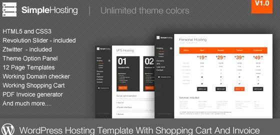 Themeforest web template untuk wordpress hosting