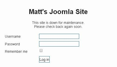 This site is down for maintenance joomla hosting