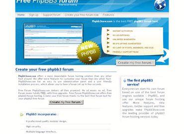 शीर्ष मुक्त मंचों phpBB होस्टिंग