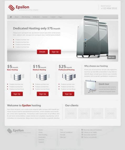Due in uno di hosting tema wordpress