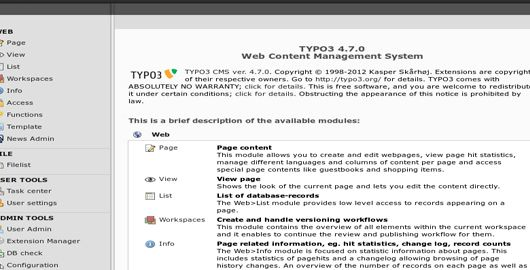 Typo 3 vs Hosting Joomla