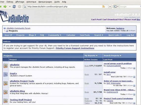 VBulletin लाइसेंस प्राप्त के साथ की मेजबानी