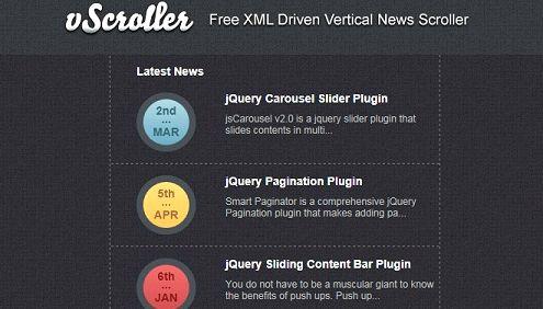 Tekst pionowy scroller joomla hosting