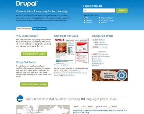 Hosting witryn Drupal Kanada