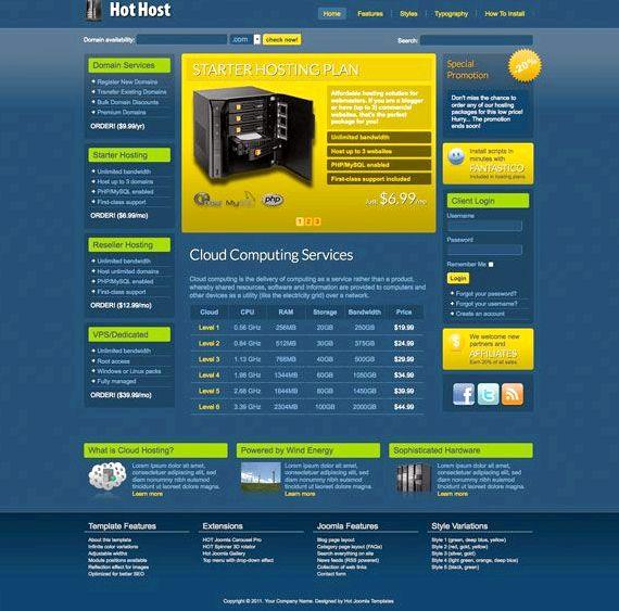 वेब होस्टिंग kostenlos जूमला मॉड्यूल