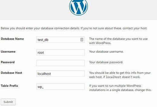 hébergement Web en un clic wordpress installer Windows