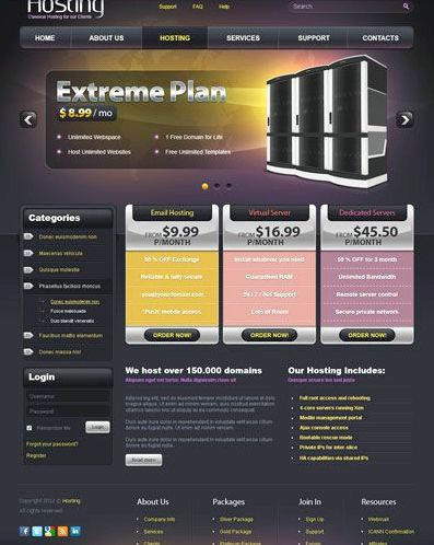 Web hosting theme joomla free your competition