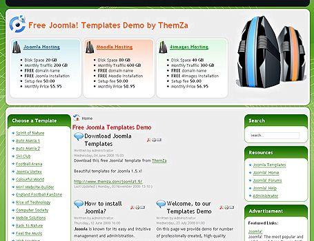 Web hosting teması joomla