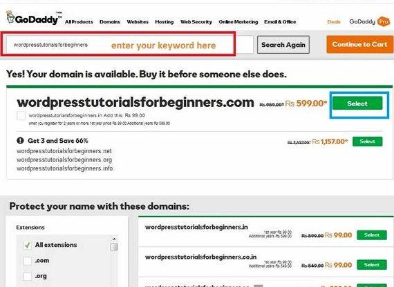 Web hosting wordpress godaddy öğretici