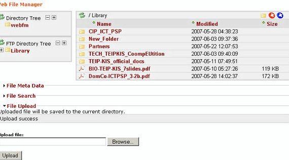 インラインテキストファイルの編集をホスティングWebfmモジュールのDrupal