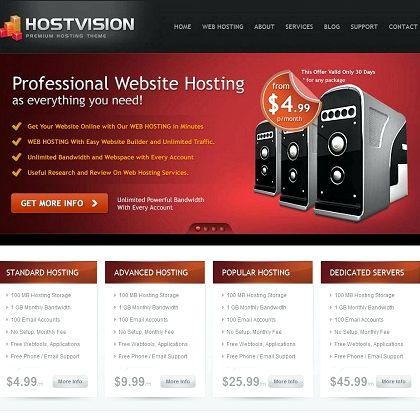 Site Web d'hébergement de modèles gratuits wordpress