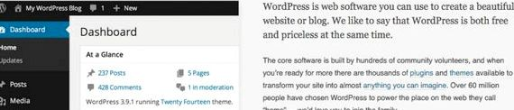 Hosting di siti web tutorial di wordpress gratis