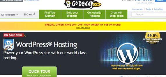 godaddy hosting Wordpress blog