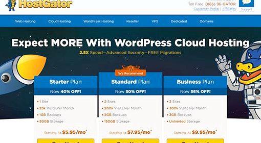 limitations d'hébergement gratuit de recherche Wordpress