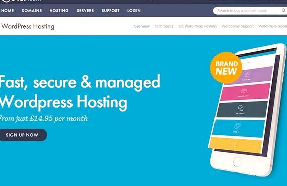 sites d'hébergement Wordpress uk