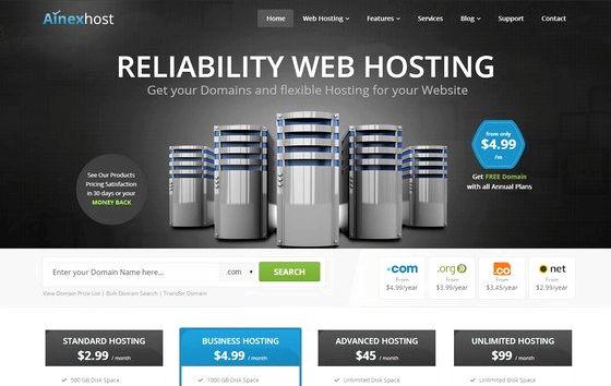 web hosting whmcs tema WordPress hospedagem