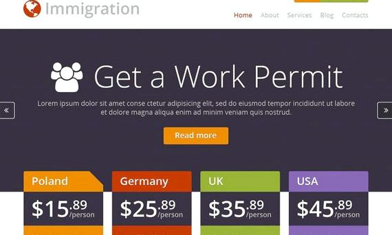 site Wordpress hébergement immigration australie