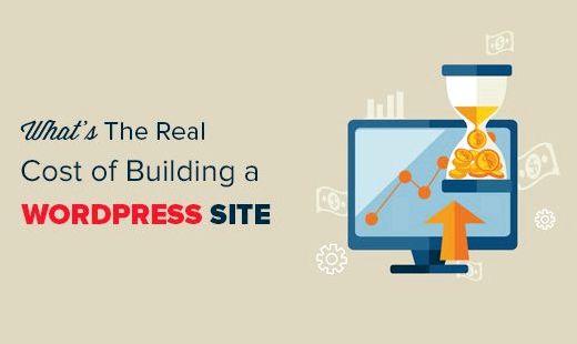 site Wordpress coûts d'hébergement