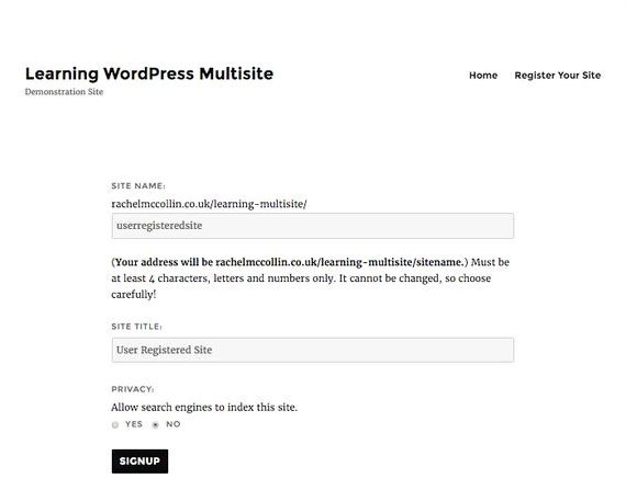 Wp-signup.php wordpress multi site hosting