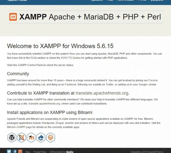 XAMPP wordpress multi sito di hosting