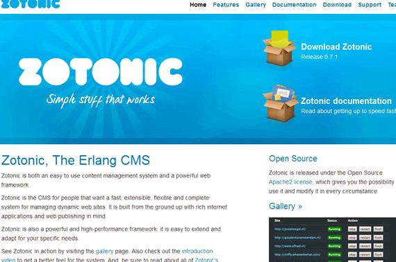 Zotonic vs hosting Drupal